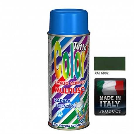 Vopsea Spray Multisuprafete Verde RAL 6002 Tuttocolor Macota
