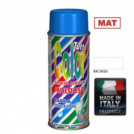 Vopsea Spray Multisuprafete Alb Mat RAL 9016 Tuttocolor Macota 400ml