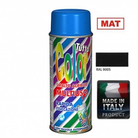 Vopsea Spray Multisuprafete Negru Mat RAL 9005 Tuttocolor Macota