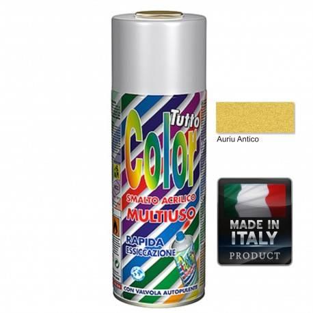 Vopsea Spray Auriu Antic Tuttocolor Macota 400ml.
