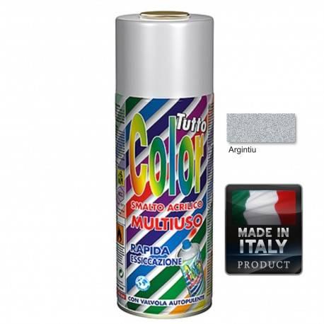Vopsea Spray Argintiu Tuttocolor Macota 400ml.