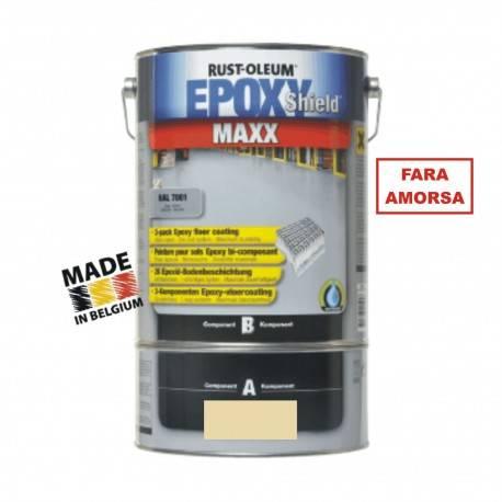 Vopsea Epoxidica Beton MAXX Crem RAL 1015-Trafic Auto 5 Litri
