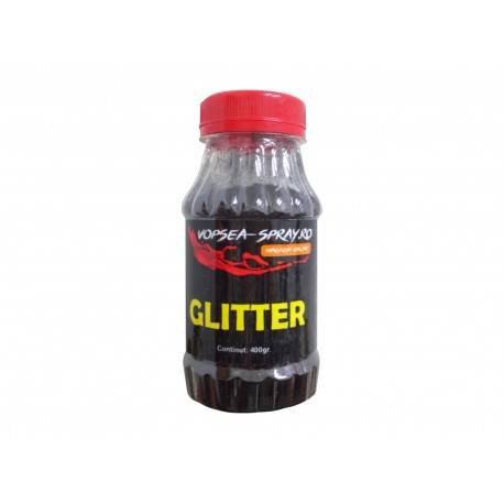 Sclipici Decorativ Negru (Glitter decorativ) 400gr.