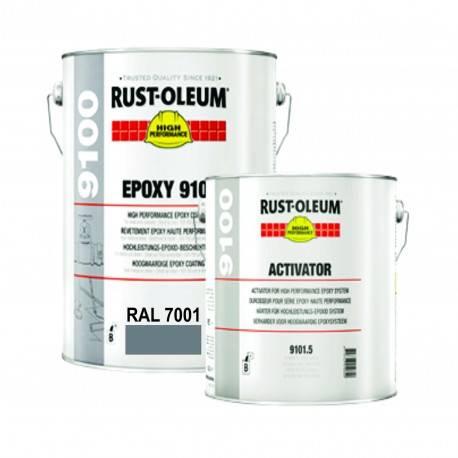 Vopsea Epoxidica Profesionala 9100 Gri RAL 7001 5 Litri