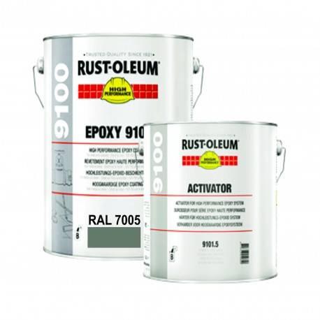 Vopsea Epoxidica Profesionala 9100 Gri Inchis RAL 7005 5 Litri