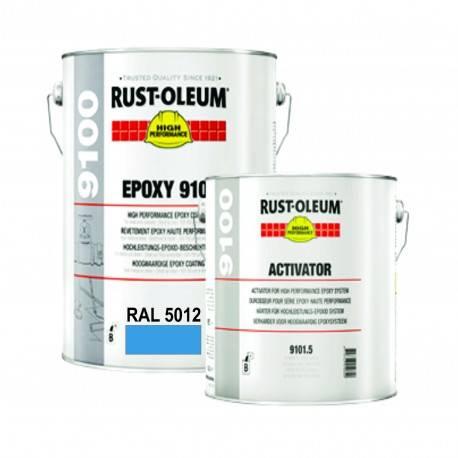 Vopsea Epoxidica Profesionala 9100 Light Blue RAL 5012 5 Litri