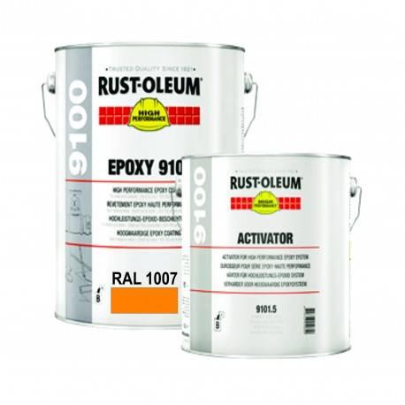 Vopsea Epoxidica Profesionala 9100 Galben RAL 1007 5 Litri