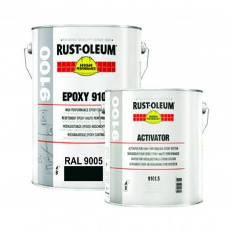 Vopsea Epoxidica Profesionala 9100 Negru RAL 9005 5 Litri