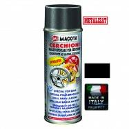 Vopsea Spray Jante Macota Negru Metalizat 400ml