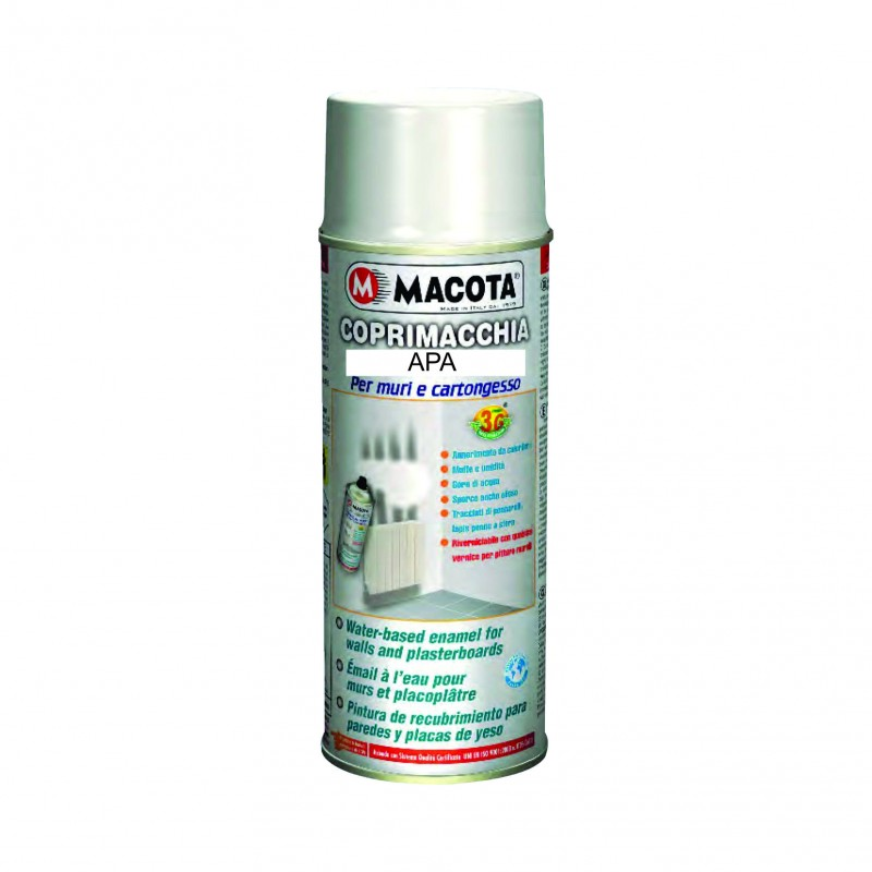 Vopsea Spray Ascundere Pete Alb Macota (pe baza de apa) 400ml.