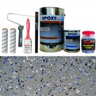 Kit Complet Vopsea Epoxidica Gri Inchis RAL 7001