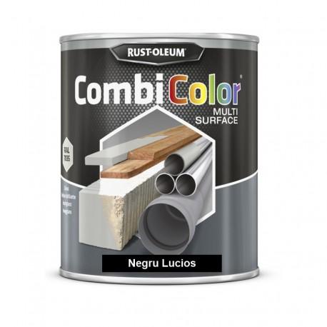 Vopsea CombiColor Multi-Suprafete Negru Lucios 750 ml