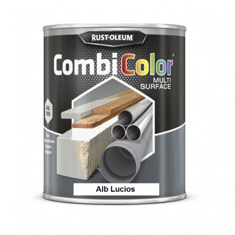 Vopsea CombiColor Multi-Suprafete Alb Lucios 750 ml