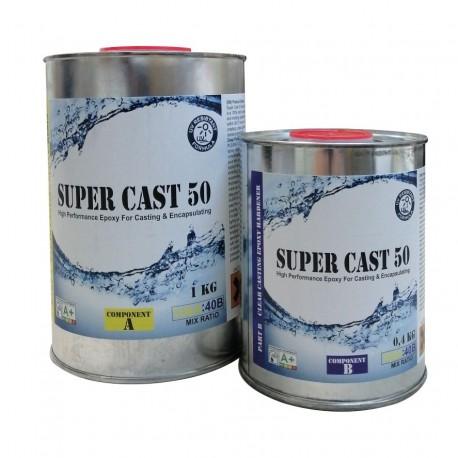 Rasina Epoxidica Super Cast 50 Transparenta 1,4Kg