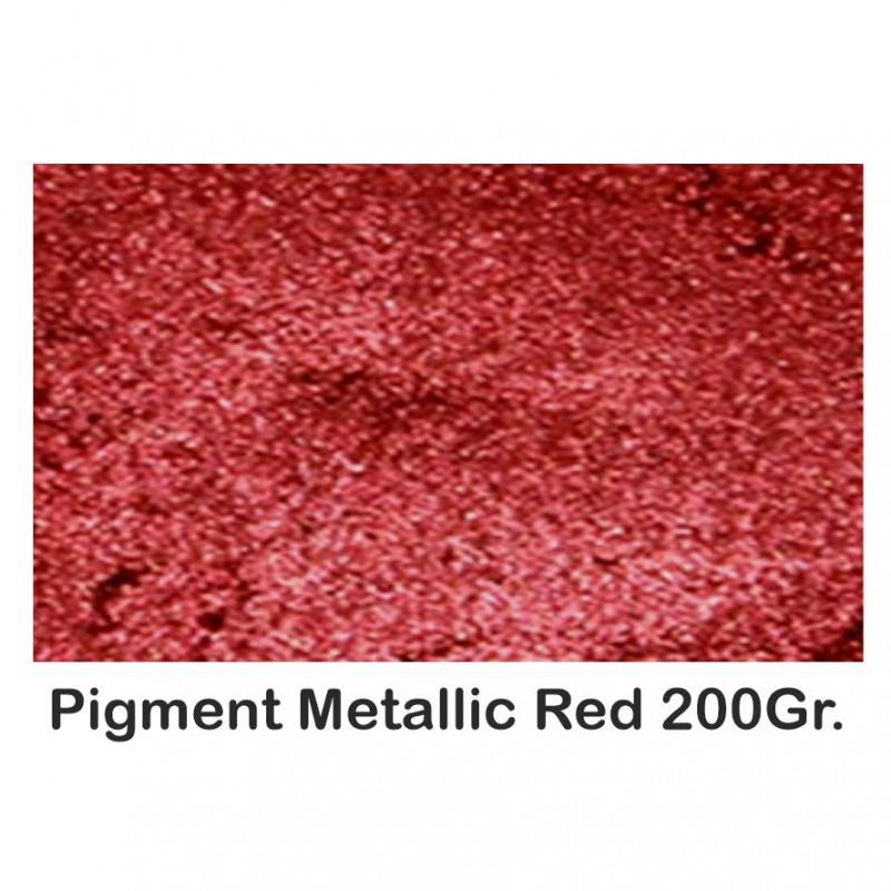 Pigment Metalic  Rosu / Red 200Gr.