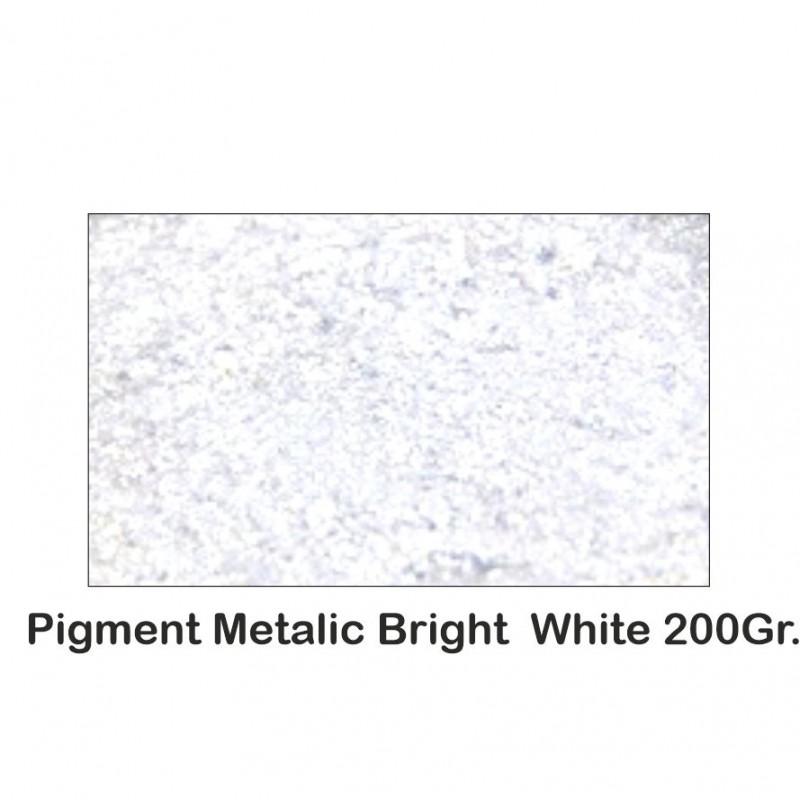 Pigment Metalic Alb Metalizat / Bright White 200Gr.