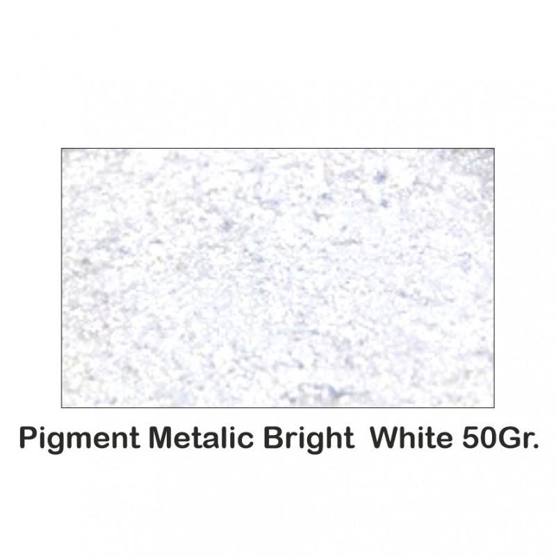 Pigment Metalic Alb Metalizat / Bright White 50Gr.