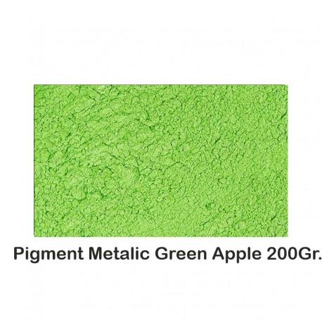 Pigment Metalic Green Apple 200Gr.