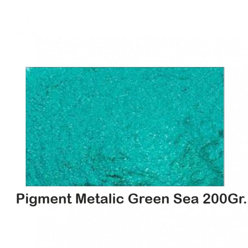Pigment Metalic Green Sea 200Gr.