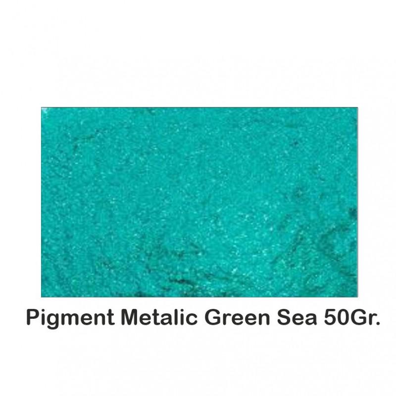 Pigment Metalic  Green Sea 50Gr.