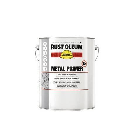 Grund Metal Uscare Rapida, Antirugina, Anticoroziv Gri Deschis 580 5 Litri