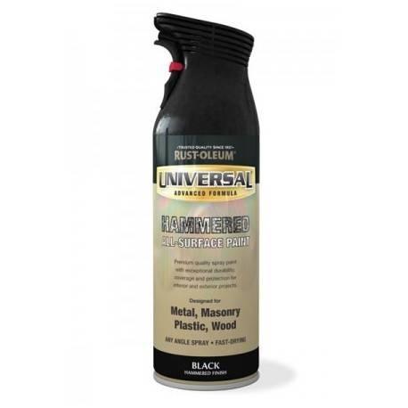 Vopsea Spray Universal Negru Lovitura De Ciocan 400ml