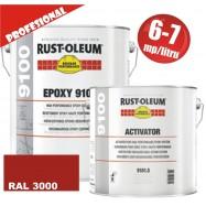 Vopsea Epoxidica Profesionala 9100 Rosu RAL 3000
