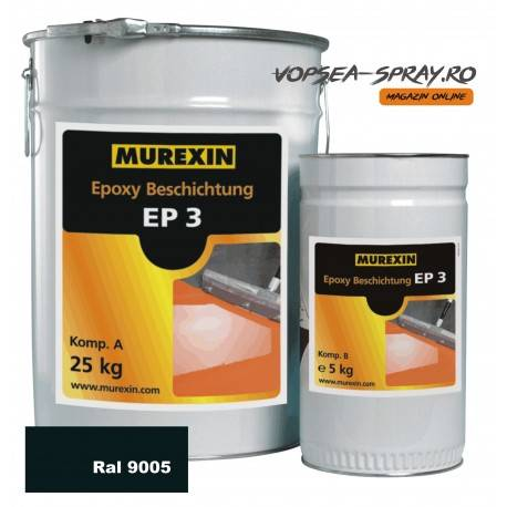 Rasina Epoxidica Autonivelanta EP3 Negru RAL 9005 30 Kg