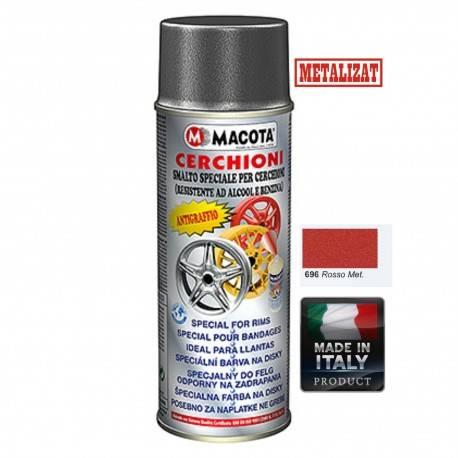 Vopsea Spray Jante Macota-Rosu Metalizat