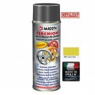 Vopsea Spray Jante Macota Galben Metalizat 400ml