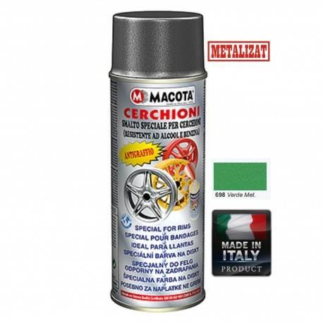 Vopsea Spray Jante Macota Verde Metalizat 400ml