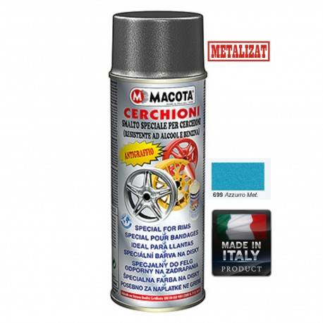 Vopsea Spray Jante Macota Albastru Metalizat 400ml